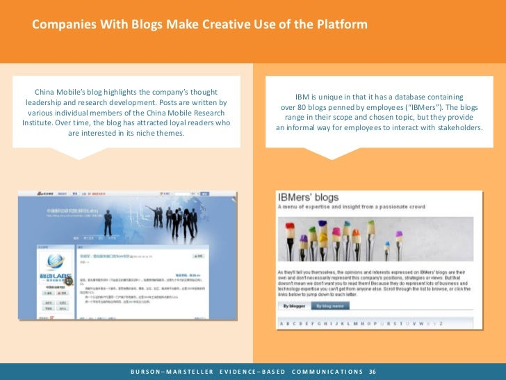 Companies With Blogs Make Creative Use of the Platform    China Mobile's blog highlights the company's thought            ...