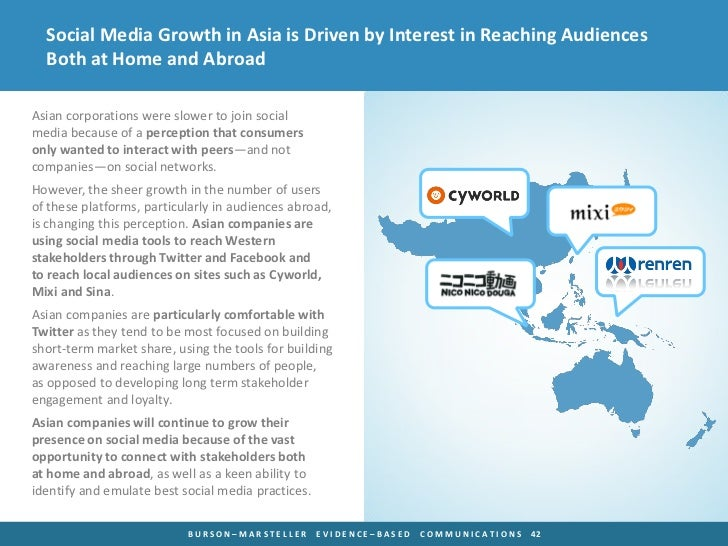 Social Media Growth in Asia is Driven by Interest in Reaching Audiences  Both at Home and AbroadAsian corporations were sl...
