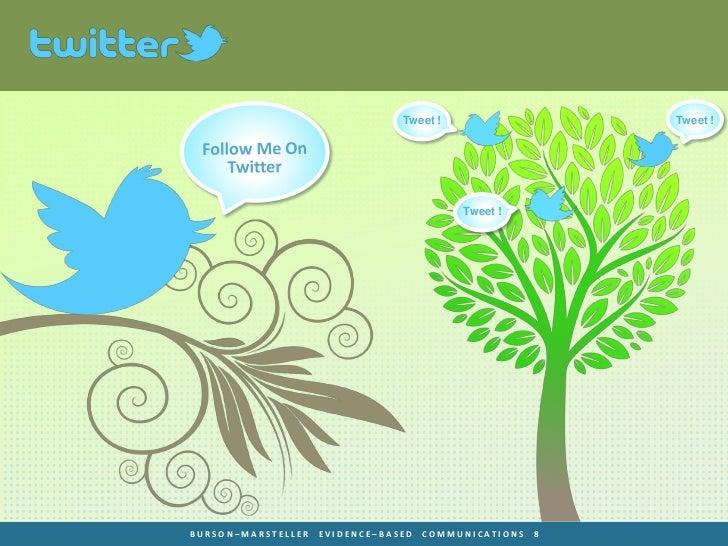 Tweet !                   Tweet !                                          Tweet !BURSON–MARSTELLER   EVIDENCE–BASED   COM...