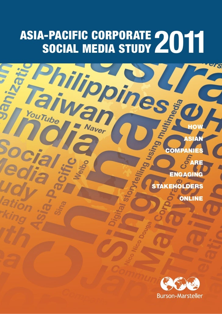 ASIA-PACIFIC CORPORATE    SOCIAL MEDIA STUDY   2011                                 HOW                                ASI...