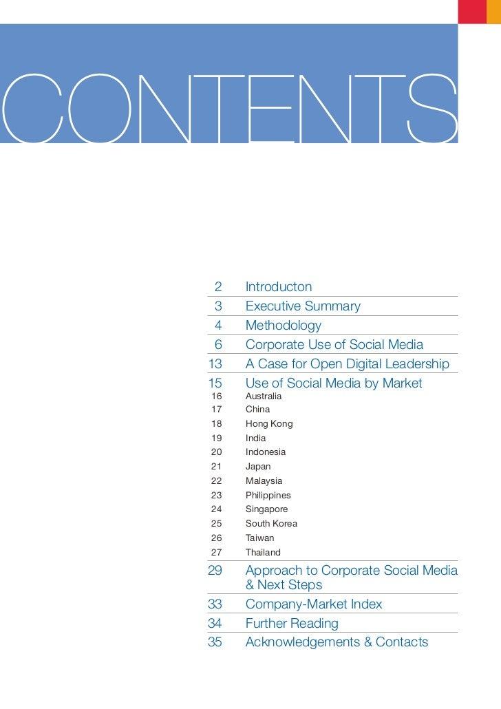 Burson-Marsteller Asia-Pacific Corporate Social Media Study 2011 Slide 3