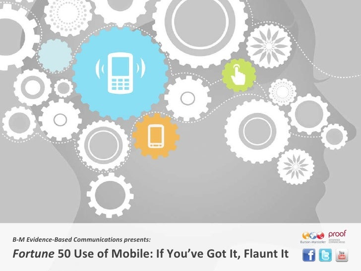 B-M Evidence-Based Communications presents: Fortune  50 Use of Mobile: If You 've Got It, Flaunt It