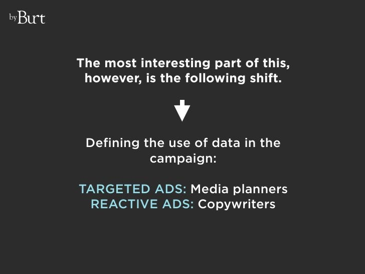 by          The most interesting part of this,       however, is the following shift.           Defining the use of data i...