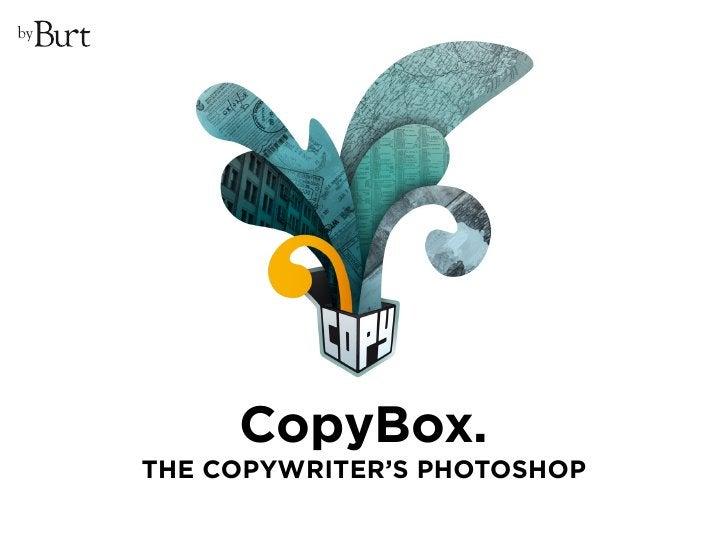 by               CopyBox.      THE COPYWRITER'S PHOTOSHOP
