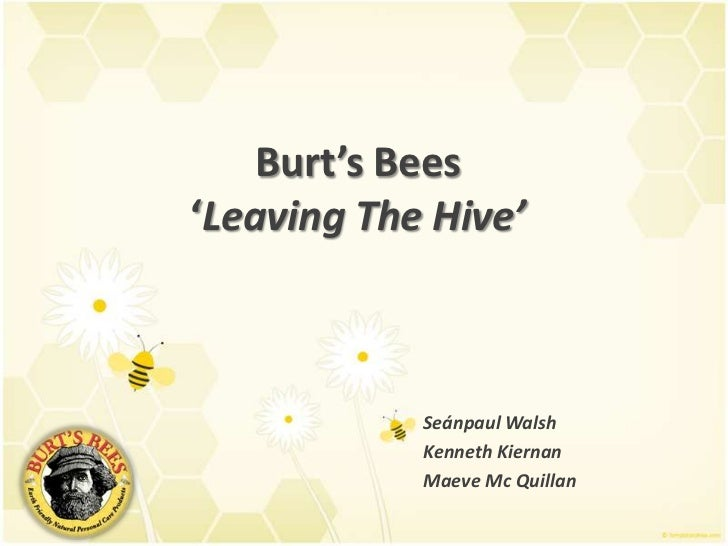 Burt's Bees 'Leaving The Hive'<br />Seánpaul Walsh		<br />Kenneth Kiernan		<br />MaeveMc Quillan	<br />