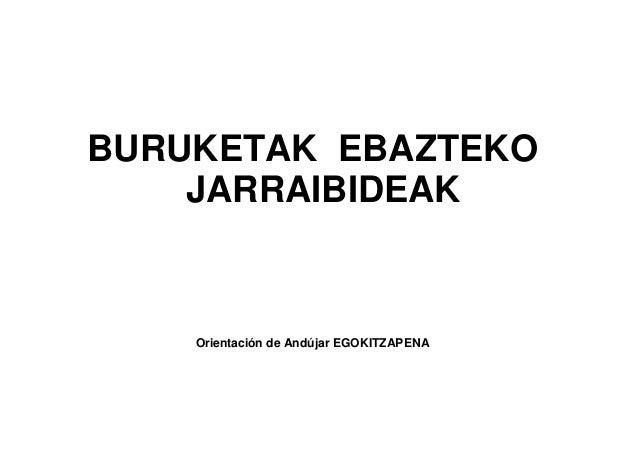 BURUKETAK EBAZTEKO JARRAIBIDEAK Orientación de Andújar EGOKITZAPENA