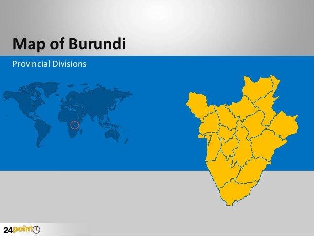 Map of Burundi Provincial Divisions