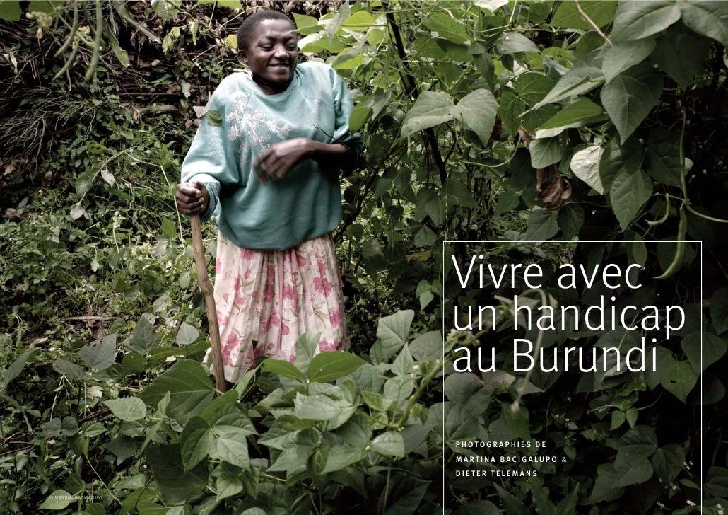 Vivre avec                       un handicap                       au Burundi                       PHOTOGRAPHIES DE      ...