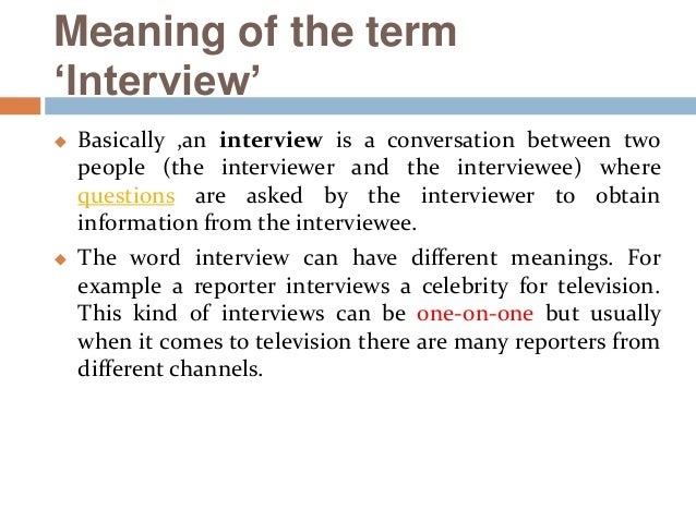types of interview questions Interview question types 1 1 interview question types learning objectives after this session, participants will be able to 1 describe four types of interview questions.