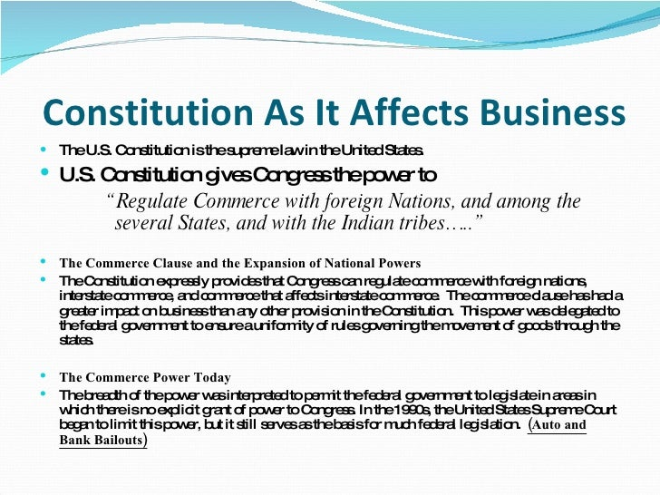 constitution affects business How the new companies act affects your business  namely the memorandum and articles of association, jointly referred to as the constitution of a.