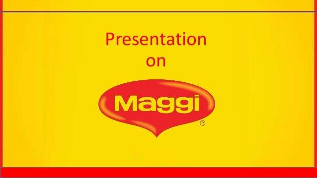 Bus101 class presentation on Maggi | {Maggi logo 53}