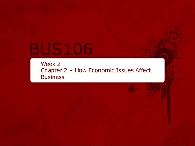 Week 2 Chapter 2 – How Economic Issues Affect Business