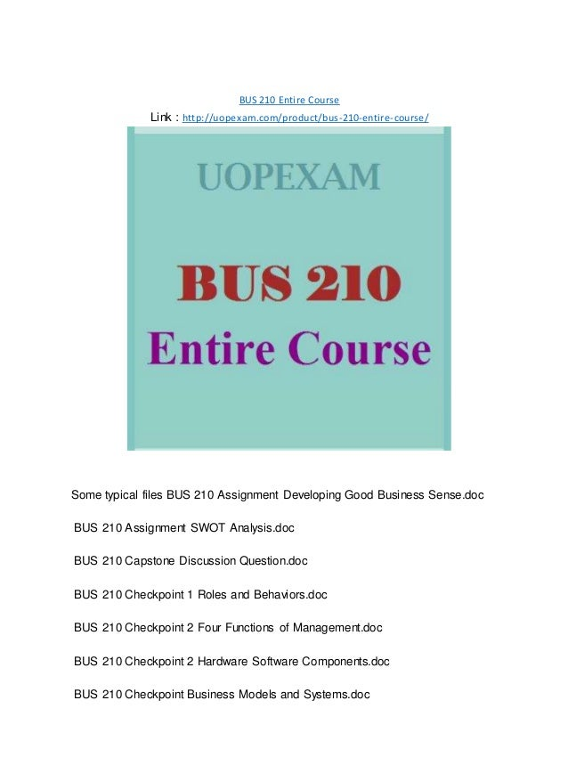 bus210 swot Check out our top free essays on contingency theory of leadership appendix d to help roles and behaviorsdoc bus210 week 4 swot analysis and business plan.