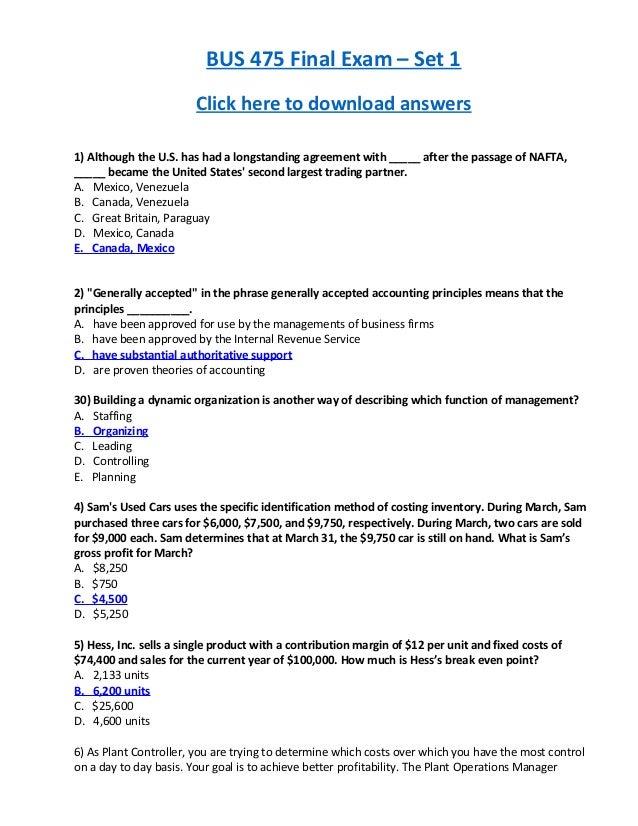 fundamentals of economics final exam