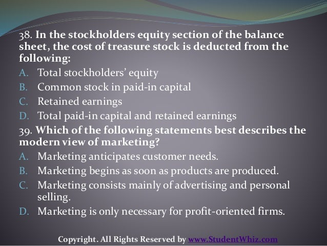 Which of the following statements best describes the modern view of marketing?