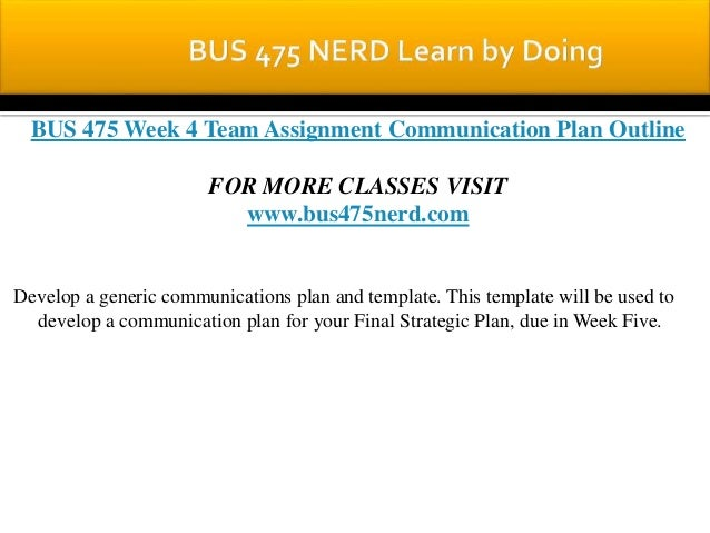 communication plan outline bus 475