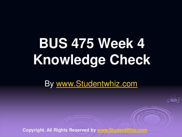 bus 475 week 5 powerpoint Bus 475 week 5 financial strategic plan  prepare three to five microsoft®  powerpoint® slides in which you briefly outline the vision, mission,.