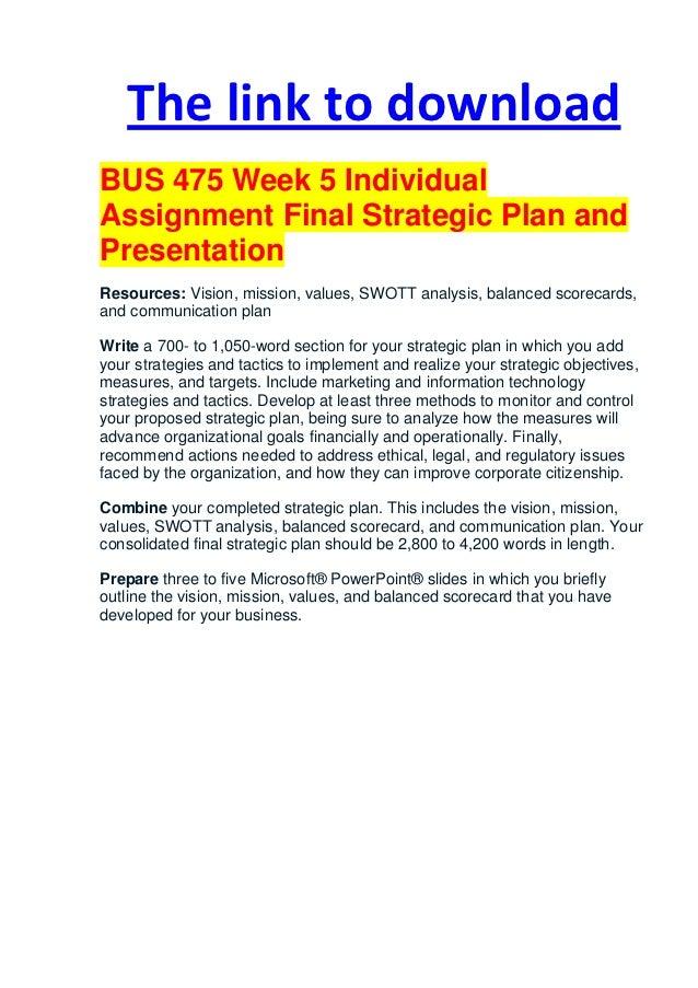 bus 475 week 5 powerpoint Bus 475 week 5 strategic plan presentation powerpoint bus 475 week 5 strategic plan presentation powerpoint.