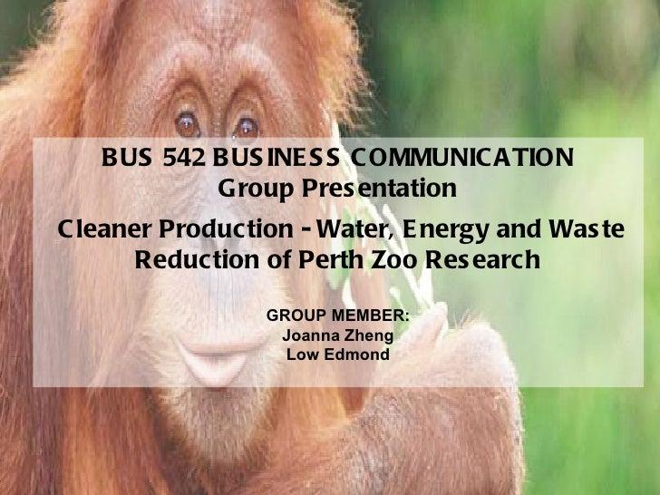 CALMAT - BUS 542 Business Communication Group presentation