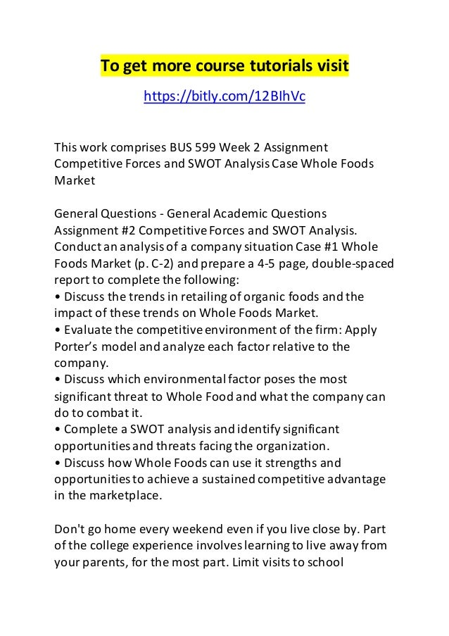 Swot Analysis Of Whole Foods Market In