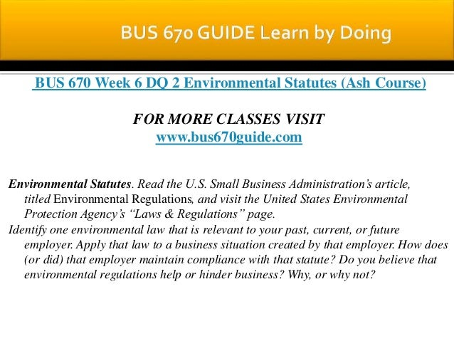 Bus 670 week 6 final paper