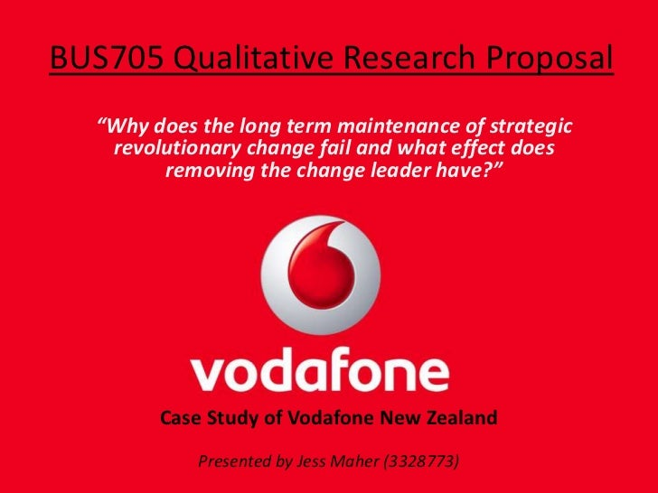 "BUS705 Qualitative Research Proposal<br />""Why does the long term maintenance of strategic revolutionary change fail and w..."