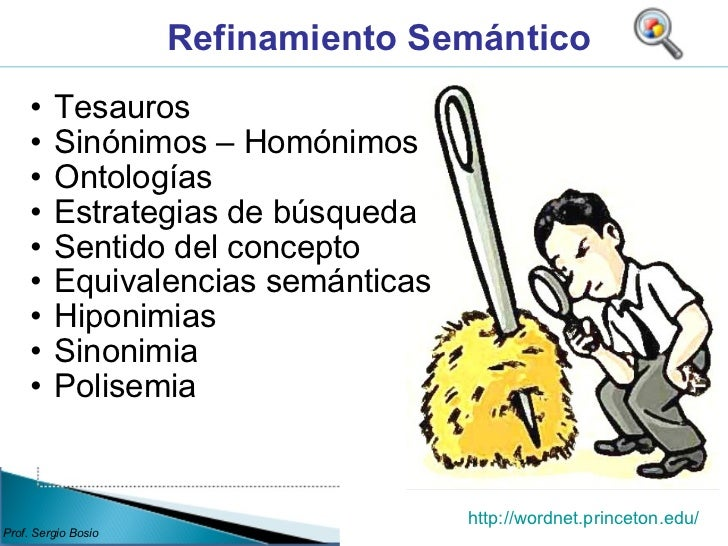 <ul><ul><li>Tesauros </li></ul></ul><ul><ul><li>Sinónimos – Homónimos </li></ul></ul><ul><ul><li>Ontologías </li></ul></ul...