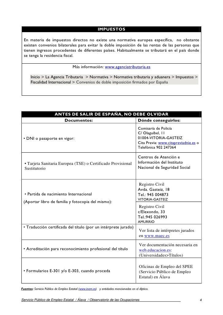 Buscar empleo en europa 2009 - Oficina virtual inem ...