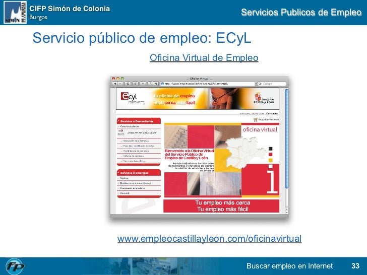 Buscar empleo en internet for Oficina virtual empleo
