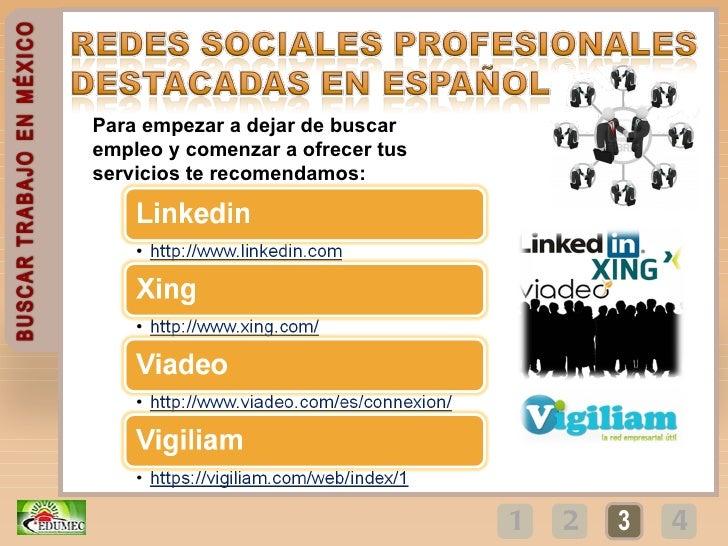 Buscar empleo en Mexico mediante Internet- Redes sociales