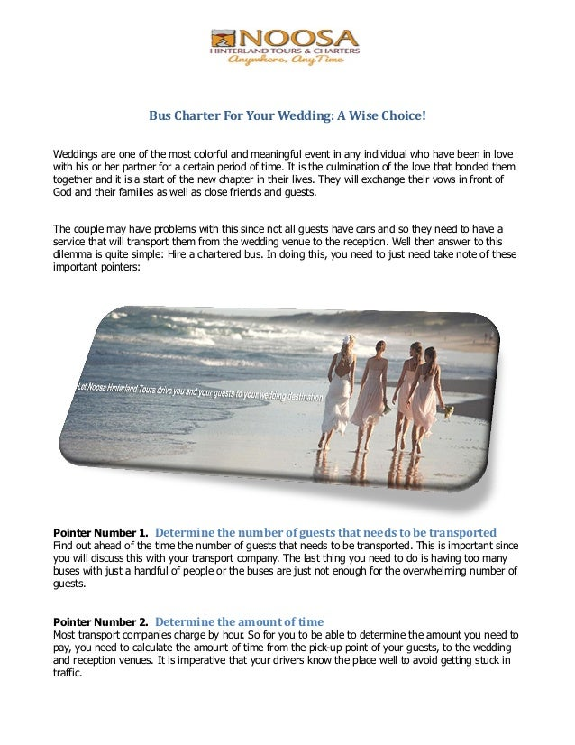 Bus Charter For Your Wedding A Wise Choice