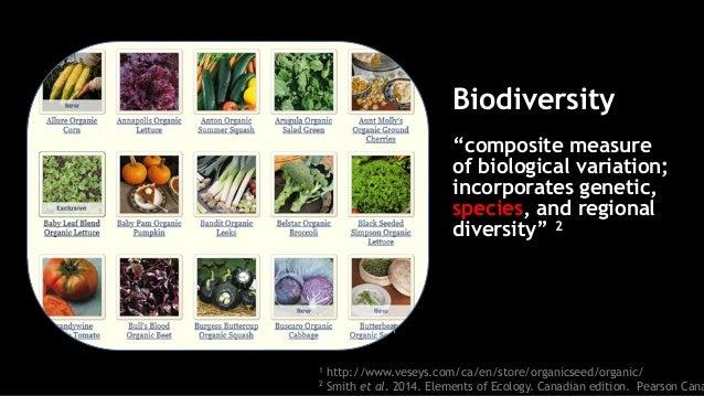 1 http://www.veseys.com/ca/en/store/organicseed/organic/ 2 Smith et al. 2014. Elements of Ecology. Canadian edition. Pears...