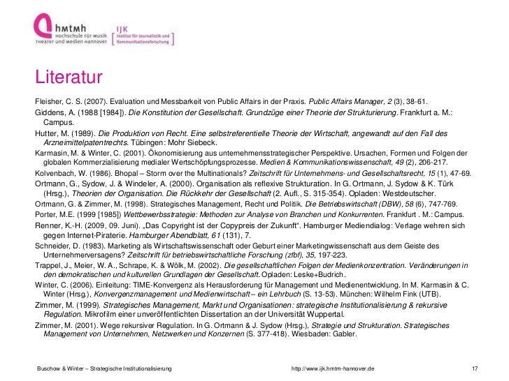 LiteraturFleisher, C. S. (2007). Evaluation und Messbarkeit von Public Affairs in der Praxis. Public Affairs Manager, 2 (3...