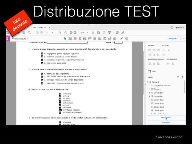 Distribuzione TEST lato docente Giovanna Busconi