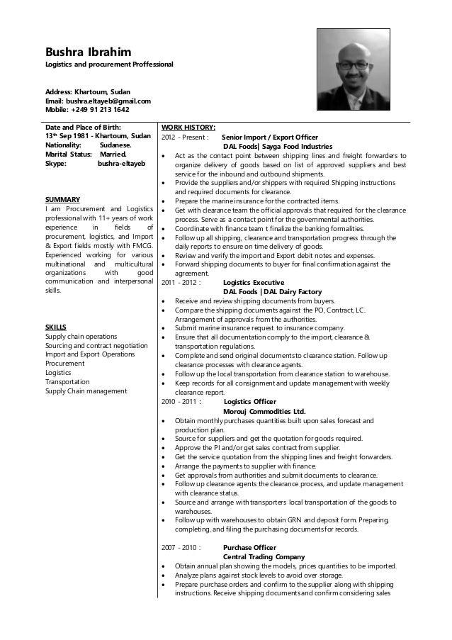 Bushra ibrahim curriculum vitae