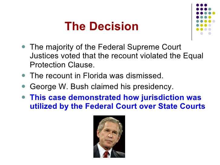 essay on bush v. gore The media has obscured the fl supreme court suit that led to bush v gore so fake news becomes fake history.