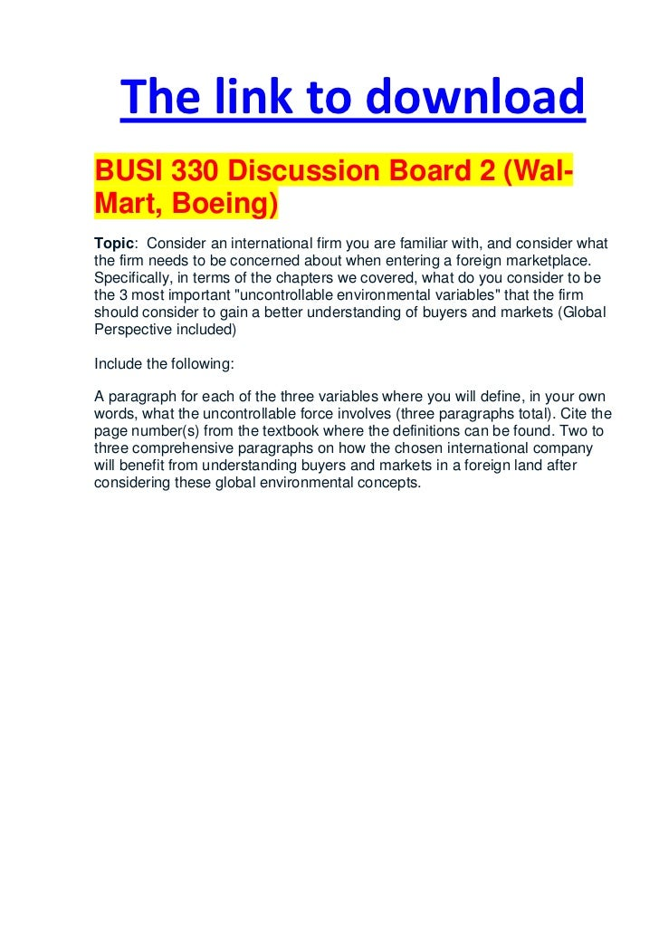 busi 561 discussion board forum 2 Busi 561 db forum thread 2 college essay writing service can you complete this note: your assignment will be checked for originality via the safeassign plagiarism tool the thread has to.