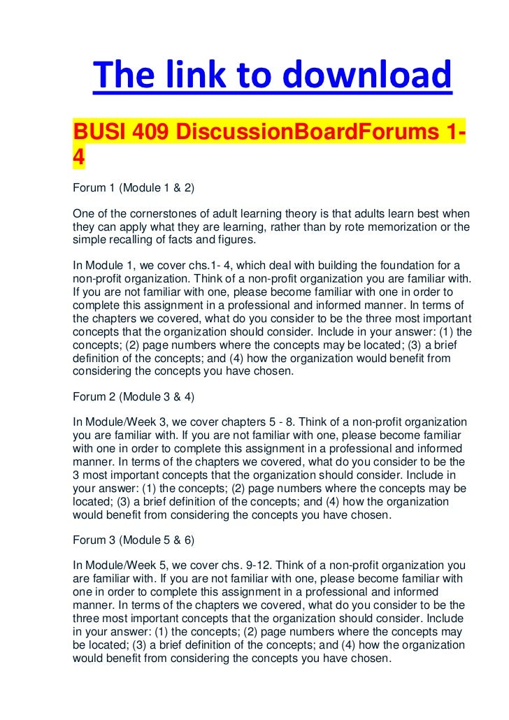 Adult board discussion