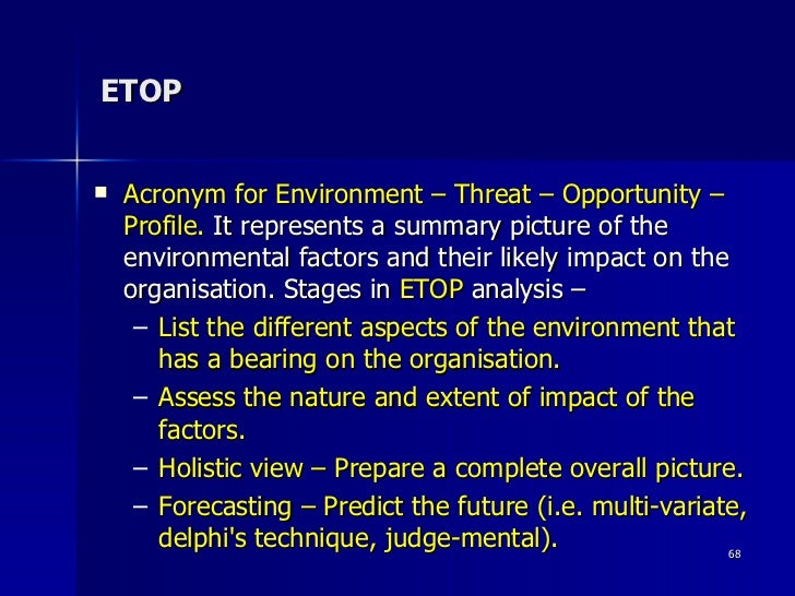 etop analysis of wallmart 2 industry analysis the retail industry is dominated by few retail giants,  with wal-mart competing in several  further analysis provided by the following  figure diagnoses the competitive  swot analysis strengths.