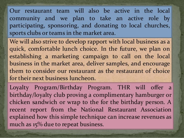 business plan quick service restaurant Fast food restaurant business plan a complete business plan for fresin fries.
