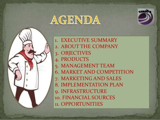 Business plan for fast food restaurant