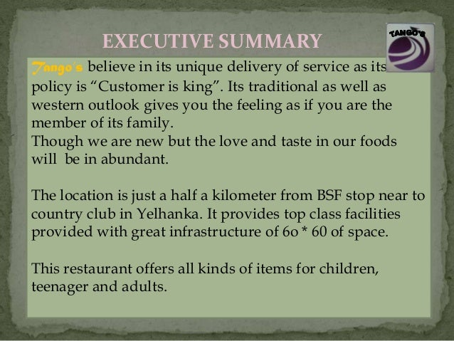 Food delivery business plan pdf