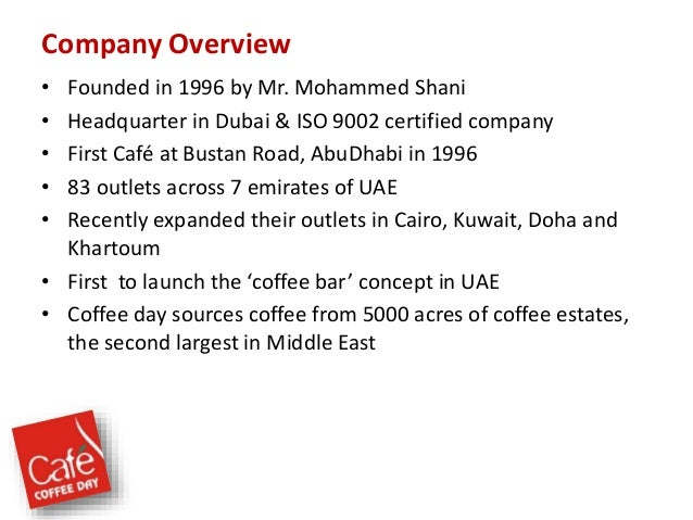 Business plan for a coffee shop