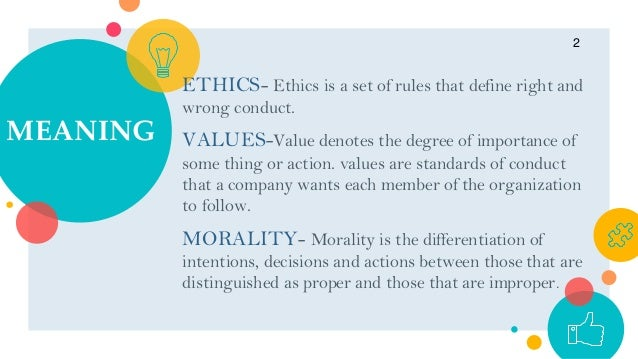 Role Of Ethics Values And Morality In Business Management