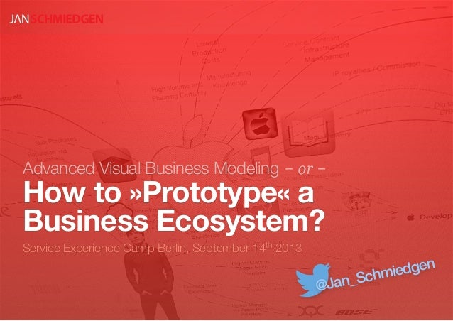 Advanced Visual Business Modeling -or- How to »Prototype« a Business Ecosystem? Service Experience Camp Berlin, September ...
