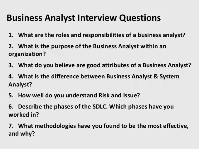 systems analyst interview questions