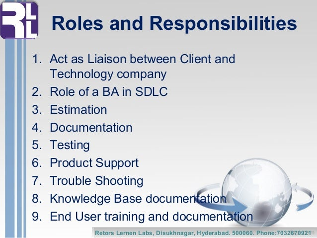 the role of the business analyst ba roles and responsibilities. 2 ...