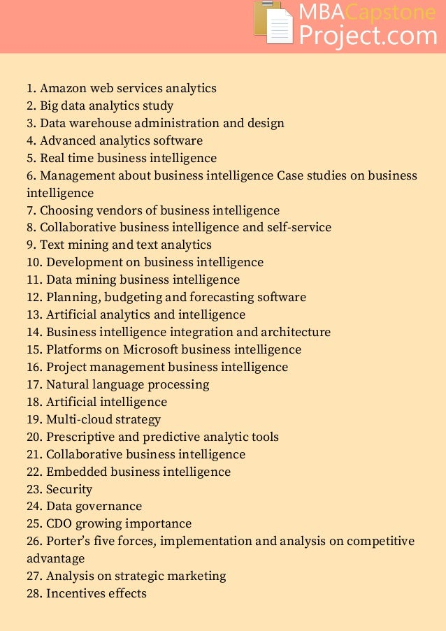 business related thesis topics
