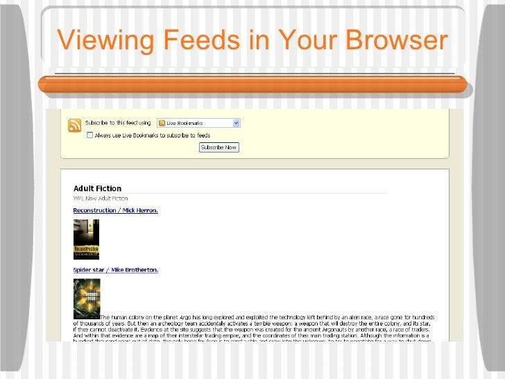 Viewing Feeds in Your Browser