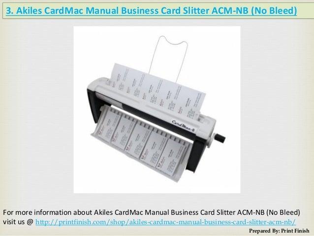 Business card slitter print finish 5 3 akiles cardmac manual business card slitter colourmoves